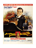 Goldfinger, Top from Left: Harold Sakata (Back to Camera), 1964 Reproduction procédé giclée