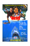 Jaws, Thai Poster Art, Roy Scheider (Left of Center), 1975 Giclee Print