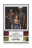 Cleopatra, Rex Harrison, Elizabeth Taylor, Richard Burton on Poster Art, 1963 ジクレープリント