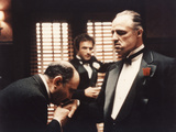 The Godfather, Salvatore Corsitto, James Caan, Marlon Brando, 1972 Photo