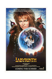 Labyrinth, from Top: David Bowie, Jennifer Connelly, 1986 Giclée-tryk