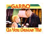 As You Desire Me, from Left: Greta Garbo, Erich Von Stroheim, 1932 Giclée-tryk
