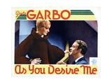 As You Desire Me, from Left, Greta Garbo, Roland Varno, 1932 Impressão giclée