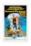 Diamonds are Forever, Sean Connery, 1971 Giclée-tryk
