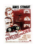 Rear Window, (aka Fenetre Sur Cour), French Poster Art, 1954 Giclee Print