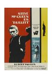 Bullitt, Steve Mcqueen on Spanish Poster Art, 1968 Giclee Print