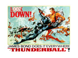 Thunderball, Sean Connery, (Poster Art), 1965 Giclée-tryk
