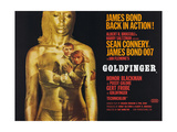 Goldfinger, Sean Connery, Honor Blackman, 1964 Gicléetryck