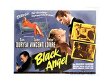 Black Angel, Peter Lorre, June Vincent, Dan Duryea on Poster Art, 1946 Lámina giclée