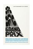 Grand Prix, Poster Art by Saul Bass, 1966 Giclée-Druck