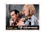 Goldfinger, from Left, Sean Connery, Shirley Eaton, 1964 ジクレープリント