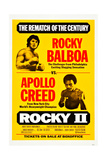 Rocky II, Sylvester Stallone, Carl Weathers, 1979 Reproduction procédé giclée
