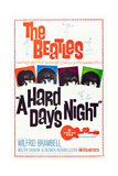 A Hard Day's Night, the Beatles, 1964 ポスター