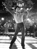 Saturday Night Fever, Fran Drescher (Background Left), John Travolta, 1977 Photo