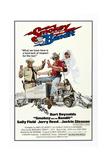 Smokey and the Bandit, from Left: Jackie Gleason, Burt Reynolds, Sally Field, 1977 Giclee-trykk
