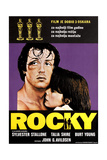 Rocky, (From Left): Sylvester Stallone, Talia Shire, (Croatian Poster Art), 1976 Giclée-tryk