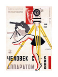 The Man with a Movie Camera, 1929 Giclee-trykk