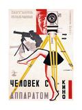 The Man with a Movie Camera, 1929 Giclée-tryk