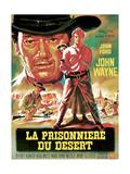 The Searchers, from Left, Ward Bond, John Wayne, Natalie Wood, Jeffrey Hunter, 1956 ジクレープリント