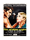 Breathless, (aka a Bout De Souffle aka Fino All'Ultimo Respiro), 1960 Reproduction procédé giclée