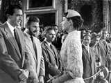 Roman Holiday, Gregory Peck, Eddie Albert, Audrey Hepburn, 1953 Photo