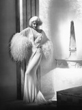 Dinner at Eight, Jean Harlow, in a Negligee by Adrian, 1933 Photo