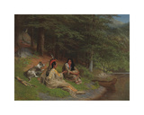 Indian Idyl Premium Giclée-tryk af William Holbrook Beard