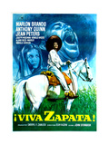 Viva Zapata!, Jean Peters, Marlon Brando, Anthony Quinn, (Spanish Poster Art), 1952 Giclée-tryk