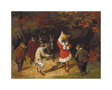 His Majesty Receives, 1885 Premium Giclée-tryk af William Holbrook Beard
