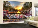 Amsterdam Sunrise Non-Woven Vlies Wallpaper Mural Tapettijuliste