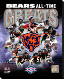 Chicago Bears - All Time Greats Stretched Canvas Print