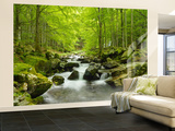 Soft Water Stream Non-Woven Vlies Wallpaper Mural Mural de papel pintado