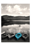 Kayaks Teal Posters af Suzanne Foschino