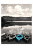 Kayaks Teal Pôsters por Suzanne Foschino