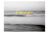 Fuga in spiaggia Poster di Tracey Telik