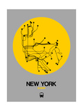 New York Yellow Subway Map Poster par  NaxArt