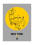 New York Yellow Subway Map Plakat av  NaxArt