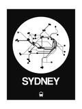 Sydney White Subway Map Giclée-Premiumdruck von  NaxArt