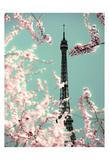 Spring Eiffel Green Poster par Tracey Telik