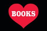 Heart (Love) Books Placa de plástico por  Ephemera