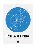 Philadelphia Blue Subway Map Posters av  NaxArt