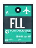 FLL Fort Lauderdale Luggage Tag II Plakater af  NaxArt