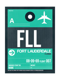 FLL Fort Lauderdale Luggage Tag II Prints by  NaxArt