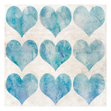 Watercolor Hearts 1 Poster by Kimberly Allen