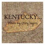Story Kentucky Posters av Tina Carlson
