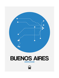 Buenos Aires Blue Subway Map Pôsters por  NaxArt