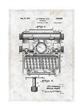 Typewriter Premium Giclee-trykk av  Patent
