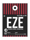 EZE Buenos Aires Luggage Tag II Plakater af  NaxArt