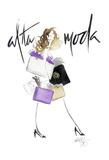 Alta Moda Purple Poster di Alicia Zyburt