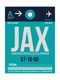 JAX Jacksonville Luggage Tag II Prints by  NaxArt